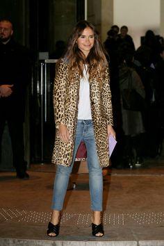 Miroslava Duma Arrivals at Giorgio Armani Fashion Show Spring Summer 2016 in Paris Miroslava Duma, Denim Fashion, Look Fashion, Fashion Show, Fashion Outfits, Fashion Weeks, Paris Fashion, Estilo Jeans, Look Blazer