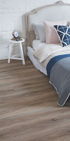 Our lovely Sierra Frost Loose Lay Vinyl Plank Flooring. Great for that Provincial Rustic look!