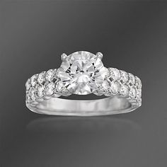 """Ritani """"Classic"""" 1.10 ct. t.w. Diamond Engagement Ring Setting in 18kt White Gold"""