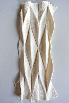 WIP: Pleat and Fold - knit fabric development on Behance Fabric Manipulation Tutorial, Fabric Manipulation Fashion, Textile Manipulation, Fabric Manipulation Techniques, Textiles Techniques, Sewing Techniques, Origami Fashion, Structured Fashion, Fabric Embellishment