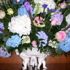 Fresh arrangement I created in angel bowl. www.markballard.com
