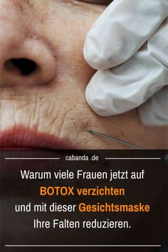 Diese Gesichtsmaske wirkt besser als Botox. When old age leaves its mark on the face, women in particular think about making your wrinkles disappear with Botox. Here I introduce y Best Anti Aging, Anti Aging Cream, Anti Aging Skin Care, Fox M, Beauty Hacks Every Girl Should Know, Base Natural, Botox Alternative, The Face, Anti Ride