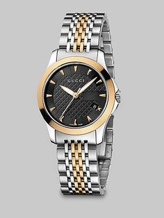 Gucci - Stainless Steel & Pink Gold PVD Watch - Saks.com