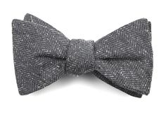 Threaded Zig-zag Bow Ties - Grey | Ties, Bow Ties, and Pocket Squares | The Tie Bar