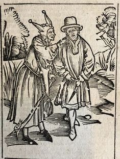 Fools that leave it to others to do good, Das Narrenschiff, Sebastian Brant, e-rara, image 256 Medieval Jester, Medieval Art, Chalkboard Drawings, Chalkboard Art, Cardboard Box Crafts, Cardboard Castle, Renaissance Time, Punch And Judy, Folk