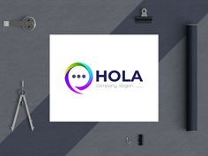 hola - an apps logo designed by BdThemes. Connect with them on Dribbble; Company Slogans, Logo Design, Apps, Graphics, Creative, Graphic Design, App, Printmaking, Appliques