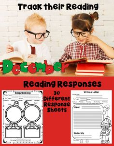 This set of December themed Reading Response sheets will help your students keep track of the books they are reading. The best part is that you can use it with any set of books!