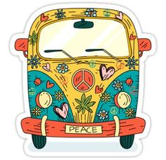 hippie painting ideas 843158361469131884 - The Hippie Van Sticker Source by noravelly Combi Hippie, Van Hippie, Hippie Art, Pintura Hippie, Hippie Drawing, Hippie Painting, Van Drawing, Barbie Fairytopia, Doodles