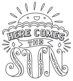 Here Comes the Sun | Urban Threads: Unique and Awesome Embroidery Designs