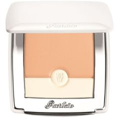 Guerlain Blanc de Perle Brightening Compact Foundation (£48) ❤ liked on Polyvore featuring beauty products, makeup, face makeup, foundation, guerlain foundation and guerlain