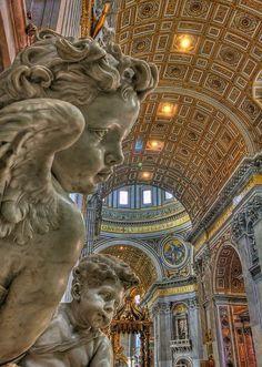 To have your breath taken. Basilica di San Pietro, Città del Vaticano. Roma - even more amazing from this angle.