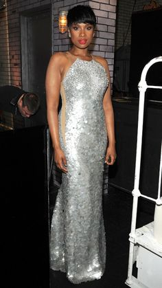 JENNIFER HUDSON in Kaufmanfranco. The actress performed a number from the upcoming musical Finding Neverland.