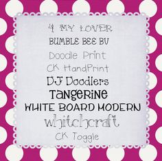 CUTE FONTS for printables!!!  :o)