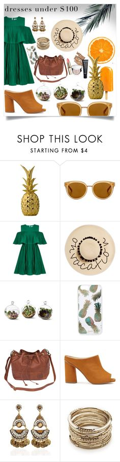 """""""Untitled #17"""" by mahileather ❤ liked on Polyvore featuring Bloomingville, Draper James, Jovonna, August Hat, Shop Succulents, Sonix, Miss Selfridge and Sole Society"""