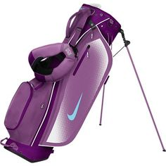 New 2014 Nike Sport Lite Carry Golf Bag Bright Grape Polarized Blue Violet Shade Nike Womens Golf, Nike Golf, Golf Cart Seat Covers, Golf Stand Bags, Ladies Golf Bags, Bags 2014, Golf Training, Golf Fashion, Golf Outfit