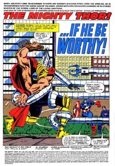 THOR #434 Page 1 (art by Ron Frenz, 1991)