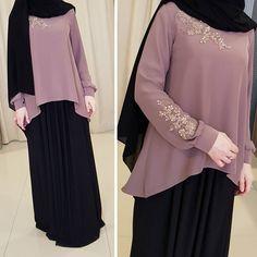 Change the hijab into more syari Niqab Fashion, Muslim Fashion, Modest Fashion, Fashion Dresses, Woman Fashion, Hijab Style Dress, Hijab Chic, Moslem, Mode Abaya