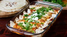 Chicken and bean enchiladas recipe, really flavorful, healthy and makes a perfect lunch or dinner. Made with homemade tortillas and homemade Enchilada sauce. Homemade Enchilada Sauce, Homemade Enchiladas, Homemade Tortillas, Enchilada Recipes, Flour Tortillas, Mexican Food Recipes, Diet Recipes, Chicken Recipes, Ethnic Recipes