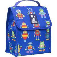 Boys robot lunch bag