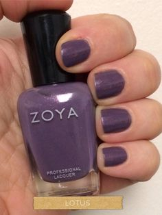 Zoya purple nail polish in Lotus