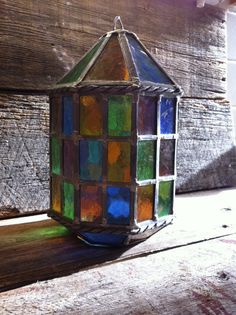 Tiffany Style Leaded Stained Glass Light Hanging Lantern on Etsy, $100.00