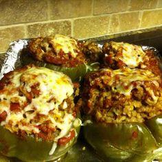 *Stuffed Green Peppers (CROCK POT)
