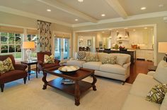 I really like the opening of the kitchen and living room
