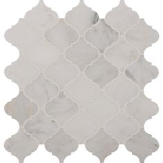 MS International Greecian White Arabesque 12 in. x 12 in. x 10 mm Polished Marble Mesh-Mounted Mosaic Tile