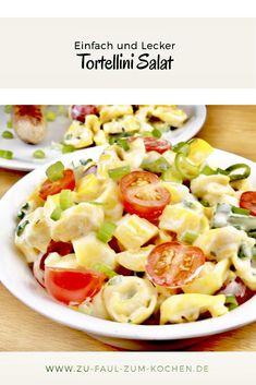 Tortellini salad should not be missing at any grill party! - Too lazy to cook? - Tortellini salad should not be missing at any grill party! – Too lazy to cook? Chef Salad Recipes, Brunch Recipes, Dinner Recipes, Barbecue Recipes, Grilling Recipes, Grilled Side Dishes, Potluck Salad, Pasta Salad With Tortellini, Grilling Sides