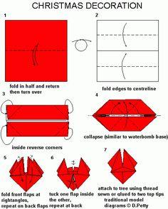 Origami - traditional model  - Xmas Decoration
