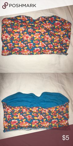Strapless crop top Colorful, soft and stretchy. Definitely can be used as a bando under a tank! Tops Crop Tops