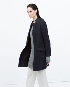 Image 3 of COAT WITH FLAP POCKETS from Zara
