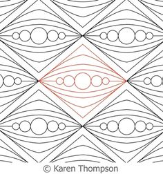 Digital Quilting Design Diamonds and Pearls by Karen Thompson. Quilting Stencils, Quilting Templates, Machine Quilting Designs, Quilting Rulers, Free Stencils, Longarm Quilting, Free Motion Quilting, Quilting Tools, Zentangle Patterns