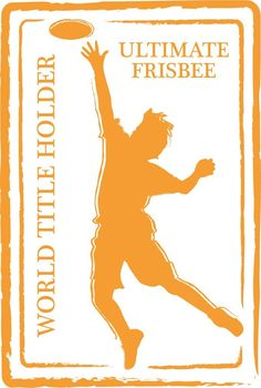 Ultimate Frisbee Sport Retro Passport Stamp Home Decal Vinyl Sticker 9'' X 14'' -- Check out this great product. (This is an affiliate link and I receive a commission for the sales)
