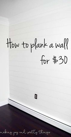 shiplap wall | diy shiplap wall | POSSIBLY CAN USE FOR MY 'DREAM' SHIPLAP BED HEADBOARD!