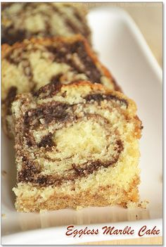 Eggless Marble Cake Recipe Cake Eggless Marble Cake - Step by Step Recipe - Sharmis Passions Eggless Marble Cake Recipe, Eggless Orange Cake, Cake Receipe, Eggless Chocolate Cake, Eggless Desserts, Marble Cake Recipes, Eggless Recipes, Eggless Baking, Cupcake Recipes