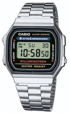 Casio A168WA-1YES - Reloj , correa de acero inoxidable chapado color metalizado
