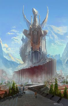 DragonLand by ~FotoN-3 on deviantART - if Daenerys has a castle