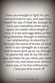 I love you... Miss You... Want You...