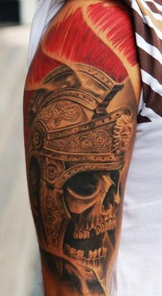 Victor Portugal Roman skeleton tattoo