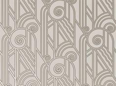 Volute Wallpaper, Platinum - modern - wallpaper - - by Bradbury & Bradbury Art Wallpapers
