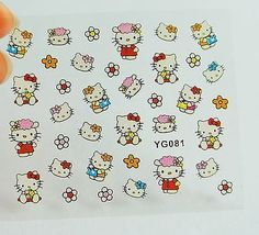 Red-Hello-Kitty-Nail-Stickers-Hello-Kitty-Heads-nail-Decals-Nail-Design-Nail-Art