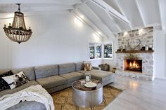 the grove byron bay Living Area, Living Spaces, Living Room, The Grove Byron Bay, Beach Bungalows, Fireplace Remodel, The Design Files, My Dream Home, Home And Living