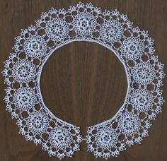 Free Irish Crochet Lace Collar Pattern...this would be beautiful for a collar on my daughter's confirmation robe!