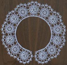 Irish Crochet Lace Collar by Megan Mills: Free pdf pattern to download