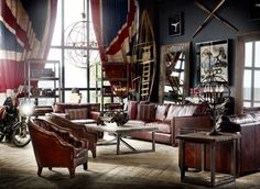 20 Creative and Inspiring Eclectic-Vintage Room Designs by Timothy Oulton