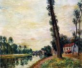 The Banks of the Loing - Alfred Sisley - www.alfredsisley.org