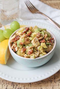 Crunchy Chicken Avocado Salad - Paleo, Gluten Free, Whole 30 recipes. Healthy lunch recipe.
