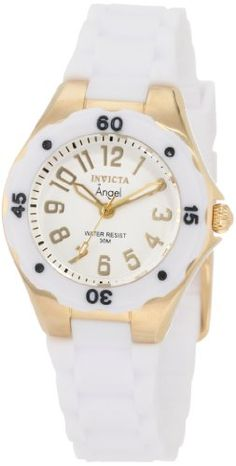 Women's Wrist Watches - Invicta Womens 1628 Angel Collection Rubber Watch -- You can get additional details at the image link. (This is an Amazon affiliate link)