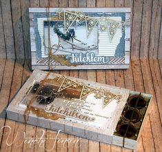 Scrappelyst: Julepyntede Toffifee-esker Making Cards, Diy Box, Diy And Crafts, Decorative Boxes, Scrapbooking, Madness, Christmas, Cardmaking, Scrapbooks